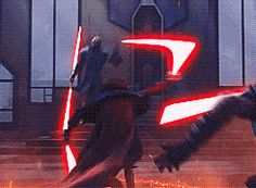 "Darth Maul & Savage Opress vs. Darth Sidious (gif) | Star Wars The Clone Wars ""The Lawless"""