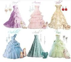@ADisneyPrncess: Disney princess dresses