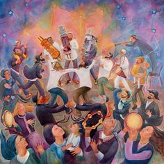 TORAH - chanahelen Out Of The Ark, Simchat Torah, Shabbat Candles, Symbols And Meanings, Desert Life, Praise Songs, Jewish Art, Judaism, Buy Prints