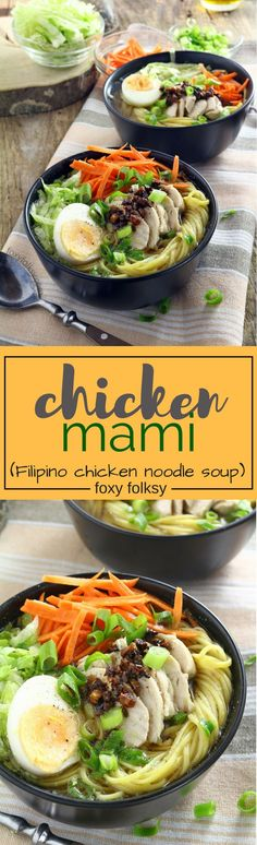 Try this Filipino Chicken Mami recipe, a delicious chicken noodle soup perfect to warm you this cold season and to help keep the colds away. | www.foxyfolksy.com