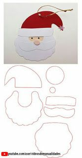 père noel en mousse ou feutrine cara de santa claus de papel o foami Moldes Christmas Activities, Christmas Crafts For Kids, Christmas Printables, Christmas Art, Christmas Projects, Felt Crafts, Holiday Crafts, Christmas Decorations With Paper, Santa Crafts