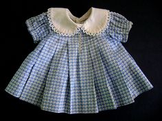 Vintage Original TAGGED 1935 Ideal Composition Shirley Temple Doll Dress for 20 inch - For sale on Ruby Lane