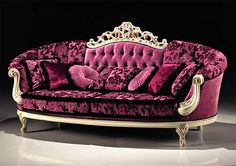 Look at that couch! It's a princess couch!