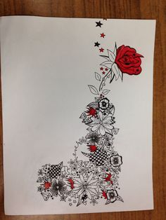 Tattoo idea - Cali - flower gun with rose as smoke ; diamonds & designs .