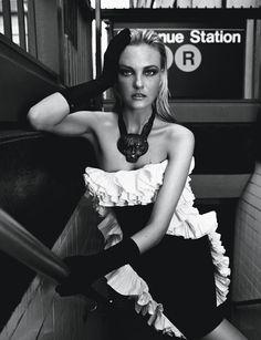 Caroline Trentini in Lanvin, photographed by Fabio Bartelt for Vogue Brazil September 2012