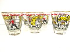 Libbey Circus Glassware by 1006Osage on Etsy, $35.00