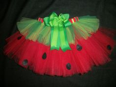 Watermelon picnic tutu 4th of July tutu or Summer by CatyRoseBows, $25.00