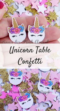 Unicorn Party Table Confetti | Unicorn Birthday Party Decor #ad #unicorn #unicornparty #unicornpartyideas #birthday #dirthdayparty #birthdaypartyideas #partyideas #confetti