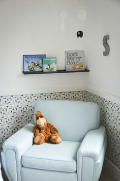 Wallpaper Below Chair Rail Kids Design Ideas Pictures Remodel And Decor Kids Room Chair Half Painted Walls Rental Home Decor
