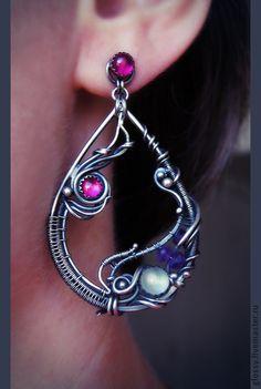 Handmade earrings.  Fair Masters - handmade earrings Jacaranda.  Handmade.