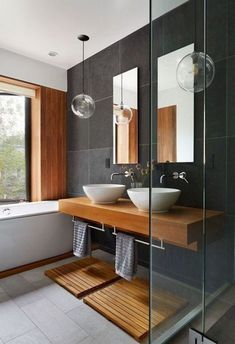 Here are the Contemporary Bathroom Design Ideas. This article about Contemporary Bathroom Design Ideas was posted under the Bathroom category. Contemporary Bathroom Designs, Modern Home Interior Design, Bathroom Interior Design, Interior Ideas, Contemporary Vanity, Restroom Design, Contemporary Interior, Home Design, Bathroom Renovations
