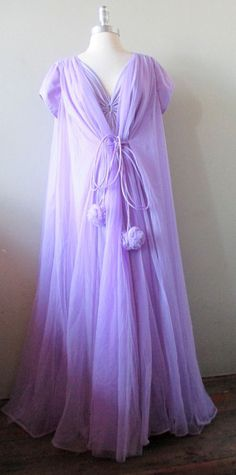 Vintage 60's Claire Sandra by Lucie Ann Lavender nightgown and robe set