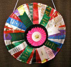 CUSTOM Ribbon Quilt Rosette Medallion made by RosetteRedesigns, $40.00