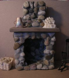 A Fireplace Tudor or farmhouse dollhouse miniature Celtic Juju OOAK Castle Dollhouse, Diy Dollhouse, Dollhouse Miniatures, Fairy Houses, Doll Houses, Fireplace Pictures, Haunted Dolls, Patio Gardens, Fairy Gardens