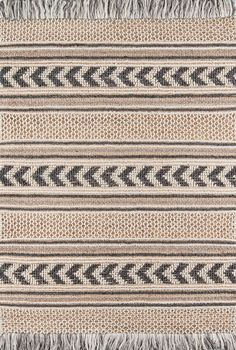Hand-made Farmhouse rug We love the stripes and chevron patterns on this natural fiber area rug. The neutral color palette works well in farmhouse style spaces. India Pattern, Pattern Art, Chevron Patterns, Farmhouse Rugs, Farmhouse Style, Modern Area Rugs, Black Rug, Jute Rug, Rug Sale