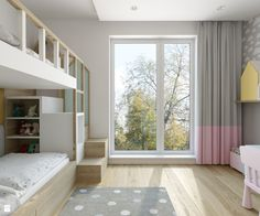 Children's room: 65 ideas of environments decorated with photos - Decoration, Architecture, Construction, Furniture and decoration, Home Deco Girl Room, Girls Bedroom, Kids Bunk Beds, Tech House, Kids Room Design, Fashion Room, Decoration Design, Small Spaces, Architecture Design