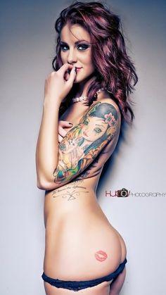 I would toooooooootally get a kiss tattooed on my butt! ;)