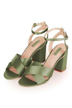 RICH Satin Cross Strap Sandals - Shoes- Topshop