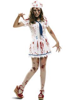 Chicas roto Muñeca De Trapo Disfraz Aterrador Zombie Adolescentes Halloween Vestido de fantasía adolescente