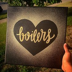 #purdue #boilers black and gold glitter canvas. So. Cool. @samseligman I need your help with this!