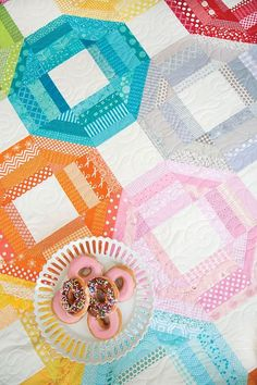 crazy mom quilts: donuts quilt