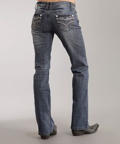 Love this Medium Indigo Stitch 818 Bootcut Jeans - Women & Plus by Stetson on #zulily! #zulilyfinds