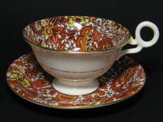 Radfords Chintz Tea Cup Persimmon Paisley