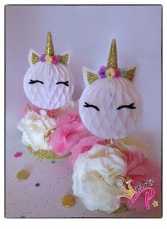 Centros de Mesa #fiesta #unicornio #party #unicorn Unicorn Party, Unicorn Birthday, Girl Birthday, Birthday Parties, Fiesta Party, I Party, Bunny Party, Ideas Para Fiestas, Quinceanera