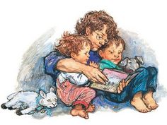 Story Time-By Childrens Artist And Author Shirley Hughes Art Print, for Sale View The Shirley Hughes Art Collection And Buy Online Shirley Hughes, Children's Book Illustration, Book Illustrations, Children's Literature, Kids Reading, Reading Art, Reading Books, Penny Black, I Love Books