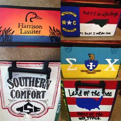 Fraternity Cooler painting with North Carolina Sigma Chi, Ducks Unlimited, and Southern Comfort
