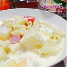 Macaroni fruit salad is one of the many favourites of Pinoys (Filipinos) and is usually served onspecial occasions like fiesta, birthdays, weddings and Christmas. Try and enjoy. Macaroni Fruit Sal…