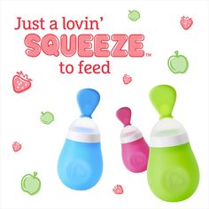 Squeeze Spoon -- Make mealtime a breeze with a simple squeeze of a spoon that holds up to 5 ounces of stage 1 or stage 2 pureed baby food.