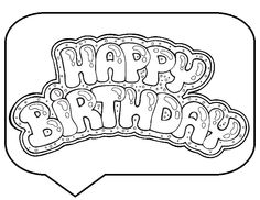find this pin and more on birthday happy birthday greeting coloring pages