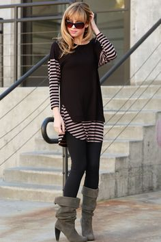 Black and taupe tunic S-M-L $32 shipped Purchase here https://www.facebook.com/photo.php?fbid=10153811025838686&set=gm.1021791607880115&type=3&theater