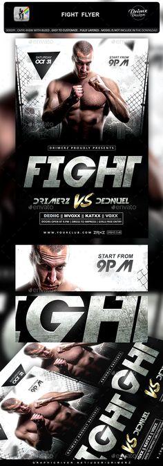 Fight Night v3 Flyer Template Fight night, Flyer template and Fonts - ufc flyer template