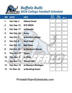 buffalo bulls football schedule 2017