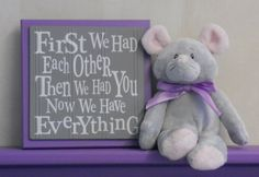 Purple and Gray Nursery Wall Decor Grey Wall Sign  by NelsonsGifts, $14.95