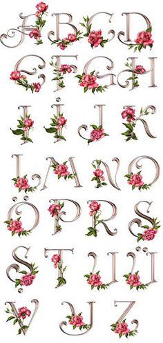 FLORES Y LETRAS PARA DECOUPAGE (pág. 233) | Aprender manualidades es facilisimo.com