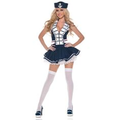 Sexy White Navy Sailor Women's Costume