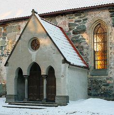 Vår Frue kirke (Virgin Mary church) - Trondheim | Flickr - Photo Sharing! Church was built 12th Cen., tower in 1739
