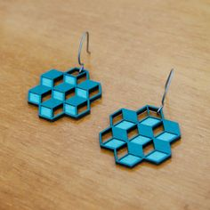 Cube Earrings now featured on Fab.
