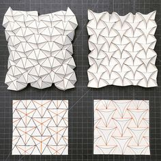 27 Great Photo of Origami Tessellations Pattern . Origami Tessellations Pattern Ron Resch Tessellation And Curved Version Creativepaper Origami Ball, Origami And Kirigami, Origami Paper Art, Diy Paper, Paper Crafts, Origami Boxes, Dollar Origami, Origami Design, Architecture Origami