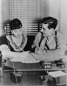 1934 Dorothy Parker with Hubby, Alan Campbell