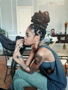 Black Women Braids - afro hairstyle, braids and twists, black women inspiration, black girls, cute hair