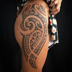 100 Best Tribal Tattoos and Designs for Men and Women - Millions Grace Maori Tattoos, Tribal Hip Tattoos, Maori Tattoo Frau, Polynesian Tribal Tattoos, Hawaiianisches Tattoo, Tribal Tattoos For Women, Hip Tattoos Women, Maori Tattoo Designs, Side Tattoos