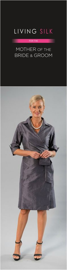 Living Silk - specializing in pure silk dresses and two piece outfits with sleeves for the modern and elegant mother of the bride and mother of the groom for a beach, boho, garden, rustic, country, cocktail or formal wedding in Spring/ Summer or Fall/ Winter | Mother of the Bride / Groom Dresses #livingsilk #motherofthebridedresses #motherofthegroomdresses #celebrateinsilk #puresilk
