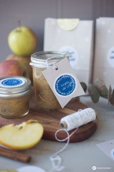 Gifts from the kitchen - baked apple jam and NIO stamp Winter Marmelade, Apple Jam, Baked Apples, Microsoft Office, Diy Food, Free Gifts, Food And Drink, Baking, Desserts