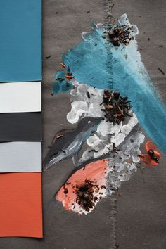 #peinture #paint #couleurs #déco #intérieur #interior #inspiration #colors Lagon bleu, soleil couchant, fleur de sel, gingembre, ébène