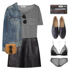 """""""Leather Mini   Maison Close Collaboration"""" by starit ❤ liked on Polyvore featuring T By Alexander Wang, rag & bone, Yves Saint Laurent, Chanel, 3.1 Phillip Lim, Natalie B, Maison Close, Loveyourself, maisonclose and frenchlingerie"""