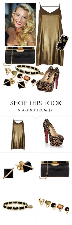 """""""Sin título #2812"""" by agus-lapipita ❤ liked on Polyvore featuring River Island, Christian Louboutin, Madyha Farooqui, BCBGeneration, H&M and Casetify"""